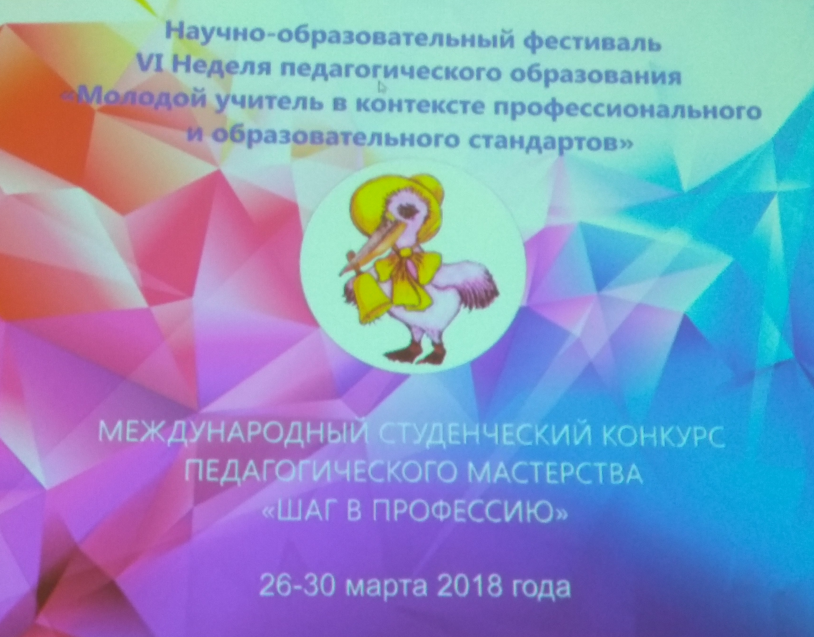 "The international competition of pedagogical skill ""Step into the profession"""