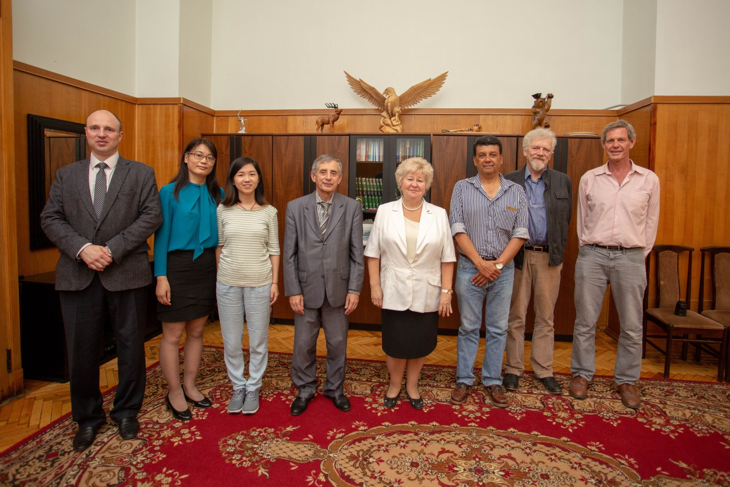 The acting as a head of Rector Zapalatskaya Veronica met with native-speaker teachers of English, Chinese and Spanish.