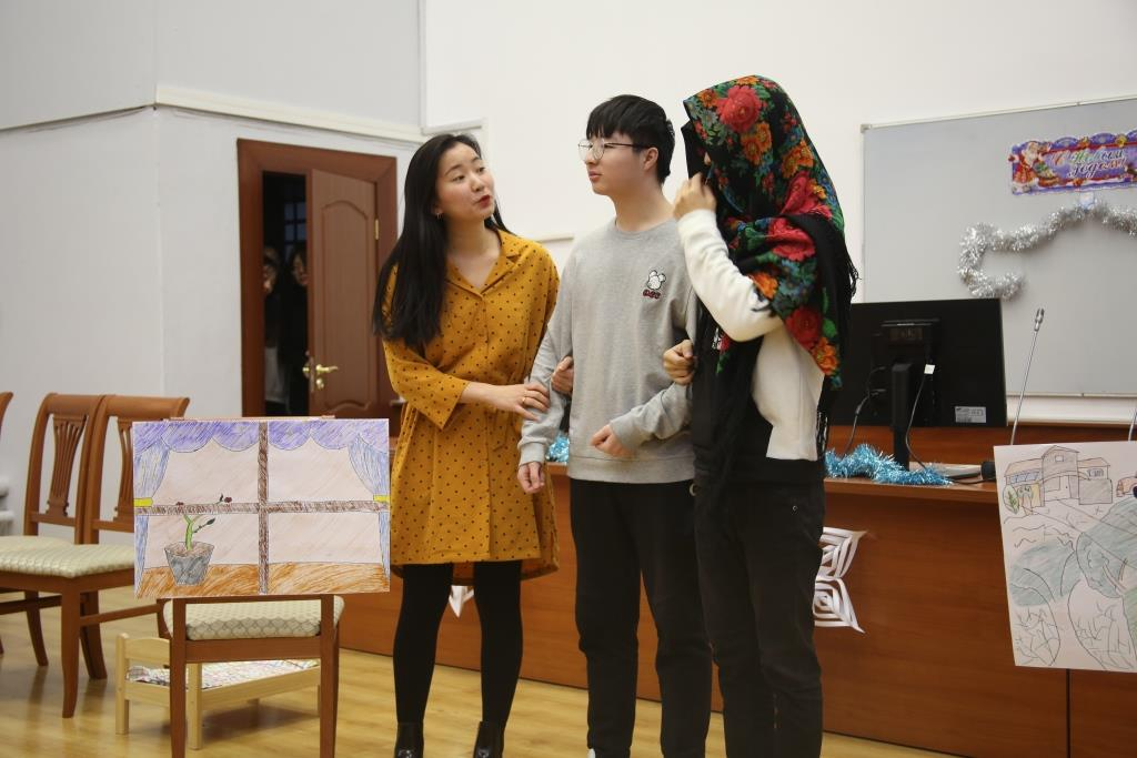 Foreign students celebrated a New Year 2019